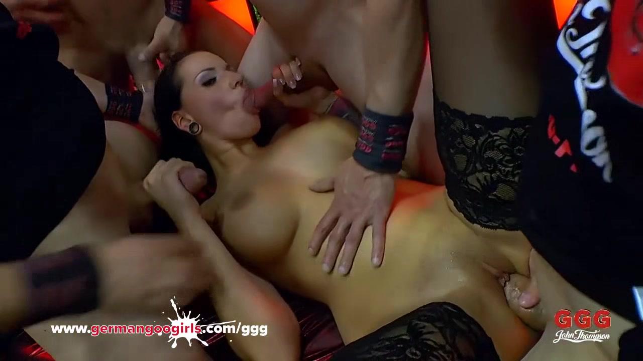 Brunette Babe Jolee Love Bukkake Gangbang - German Goo Girls porn trailer lesbian asian