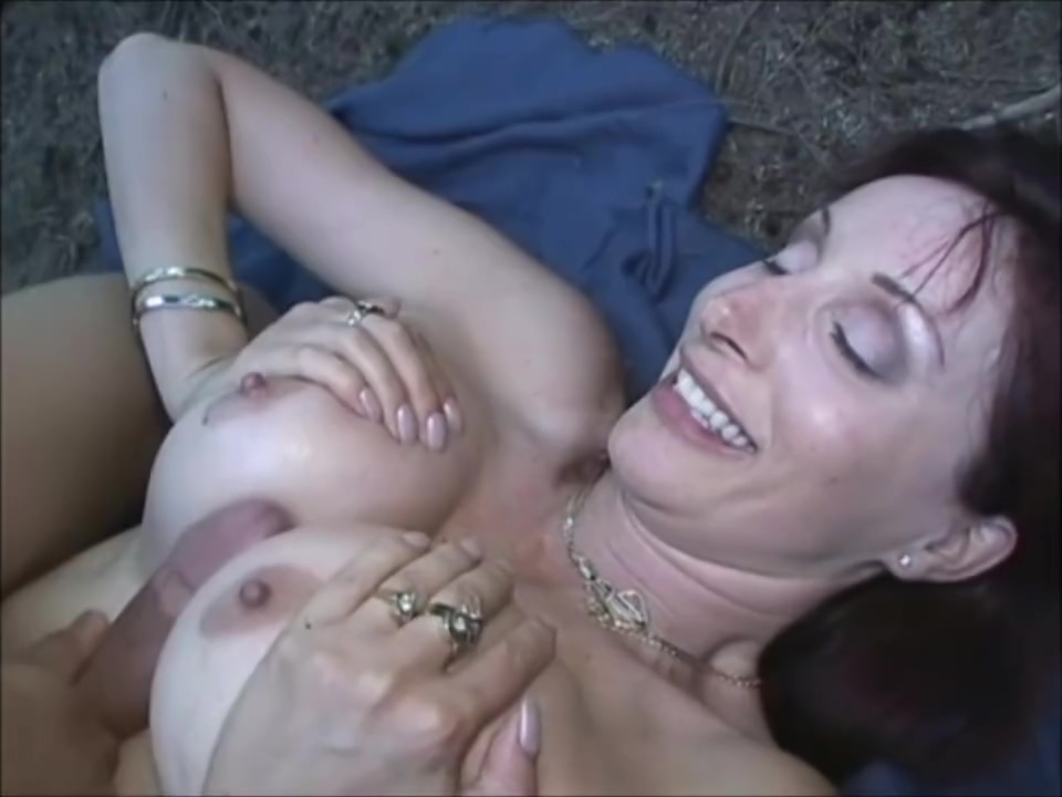 SEXY MILF FUCKS YOUNGER GUY IN THE WOODS