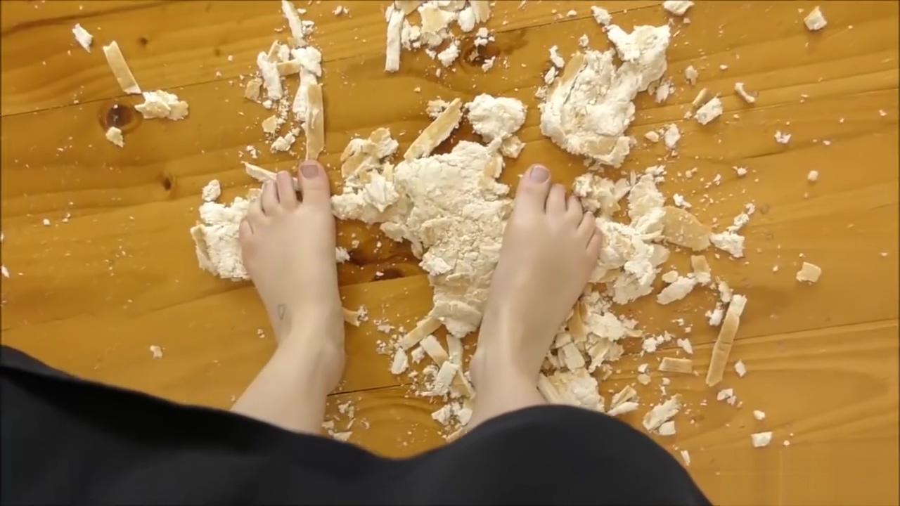 Sassy Ava Barefoot Bread Crushing