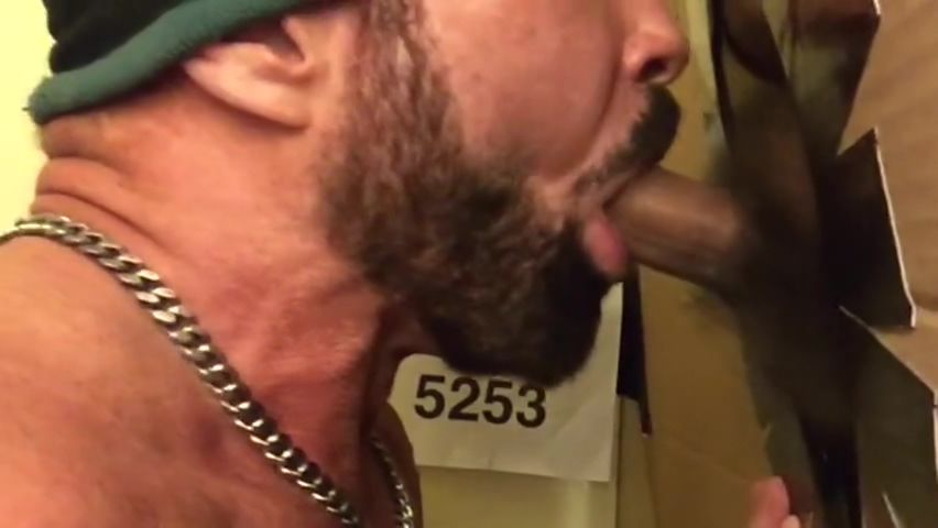 Chub Bear Gets Short Fat Cock Sucked at Philly Gloryhole Bbw good backshots