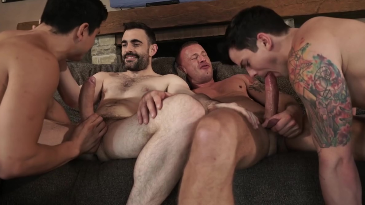 Two daddies fuck younger couple bareback Video chat gay free