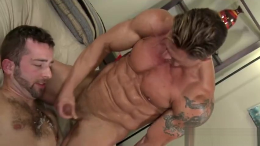 Gay hunk throating cock watched his wife get fucked