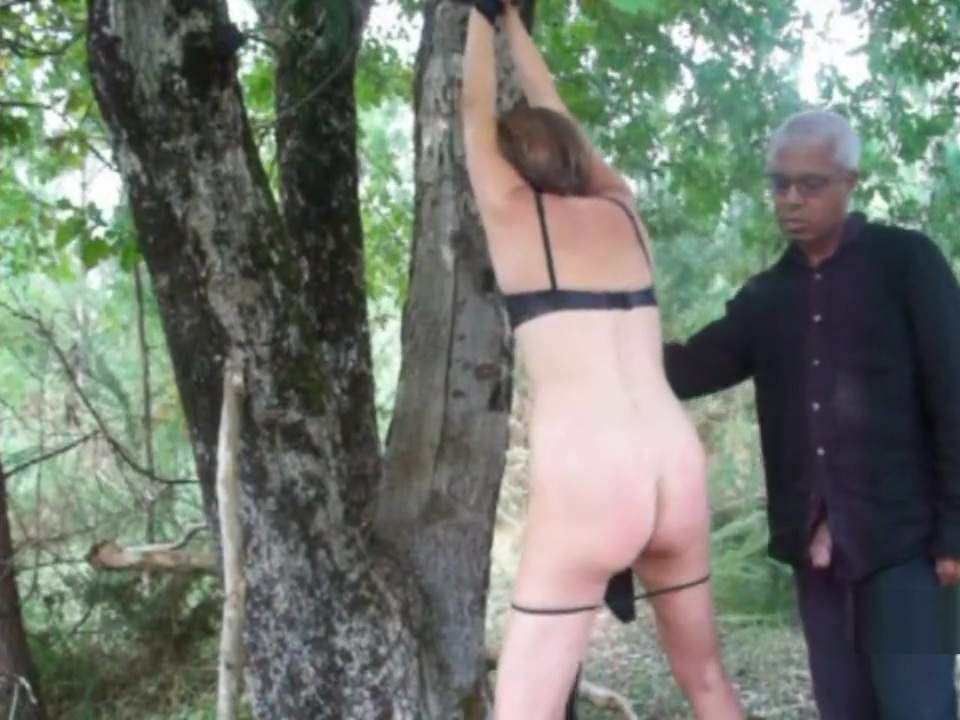 Julia punished into the forest Ebony secretary pantyhose