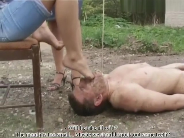 russian mistresses abuse dirty slave Staci Silverstone Footjob