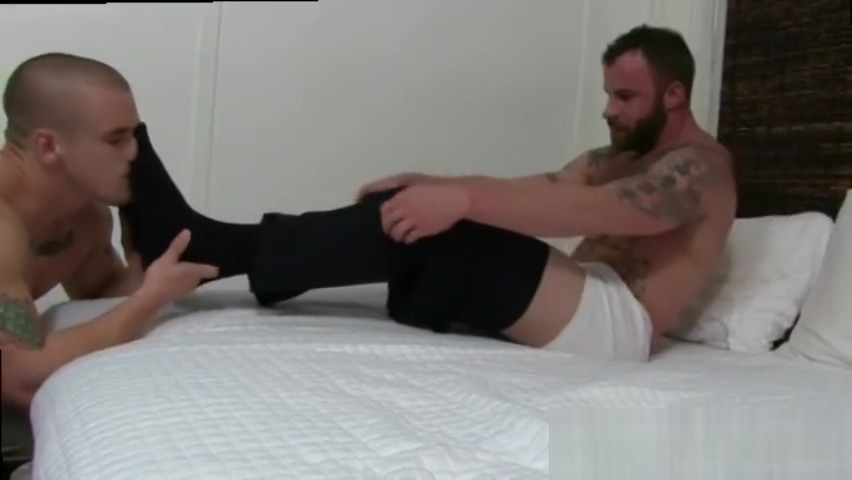 Noah-men rubbing feet against each other and boy gay Perfect tits topless cum