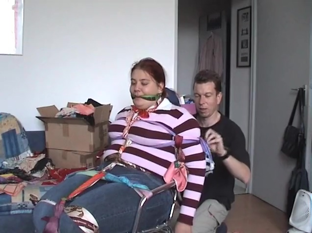 Fully covered headscarf bondage