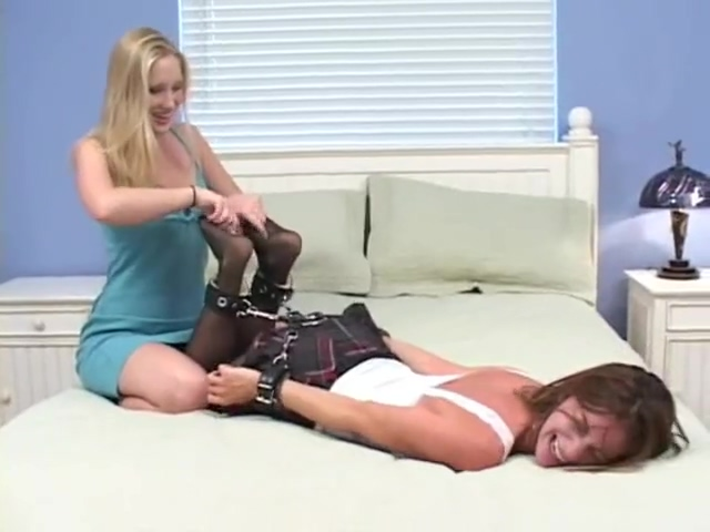 Kara Tickled monster cock for anal