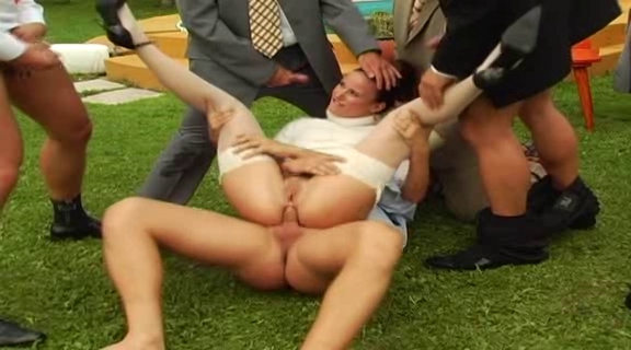 Carina sucks 5 cocks in this gangbang dp video Black dick gets latina