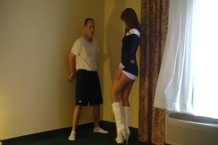 Tall Girl BallBusts Little Guy