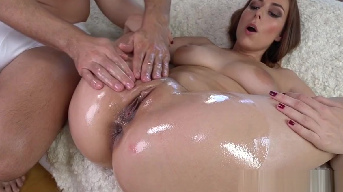 Antonia Sainzs oiled up booty banged deep Pregnant hairy blonde pussy