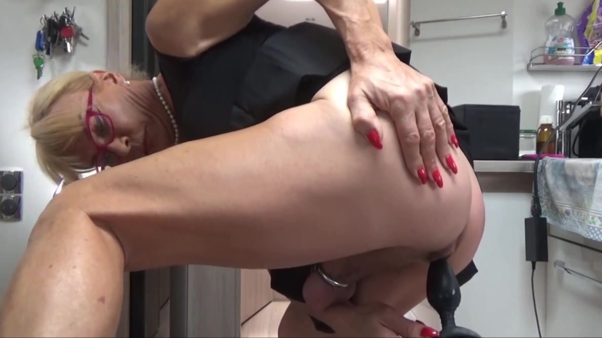 chastity life Blonde on floor gets fucked