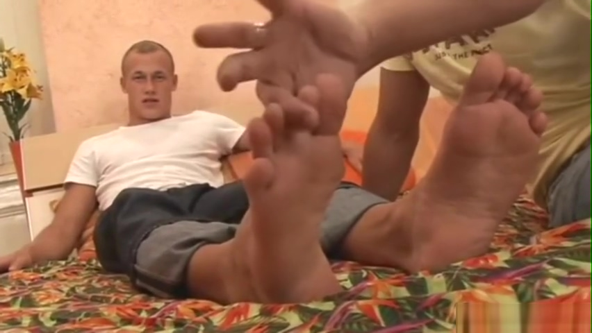 MALE FEET TICKLING MASSAGED Mature blonde needs two cocks to be satisfied