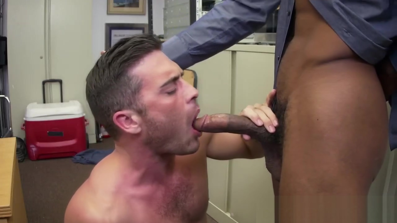 White stud takes long black cock anally in office Free full milf hunter videos