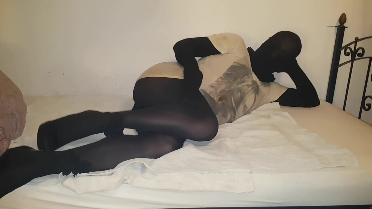 Blacks Pantyhose Encasement in Heels Best black girl ass pussy