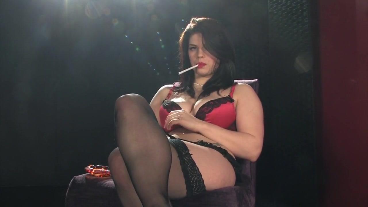 Lucia Love all white chain smoking masturbation with big black dildo demi lava to nude
