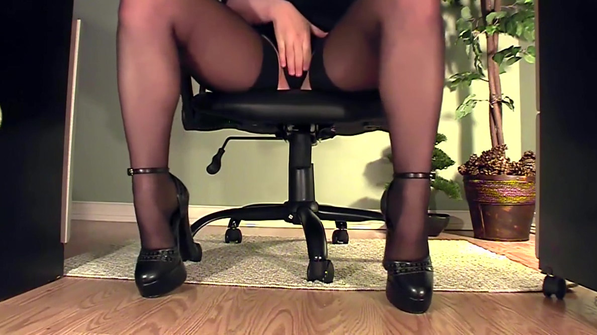 Leggy secretary under desk masturbation rabbit suit sex woman scary