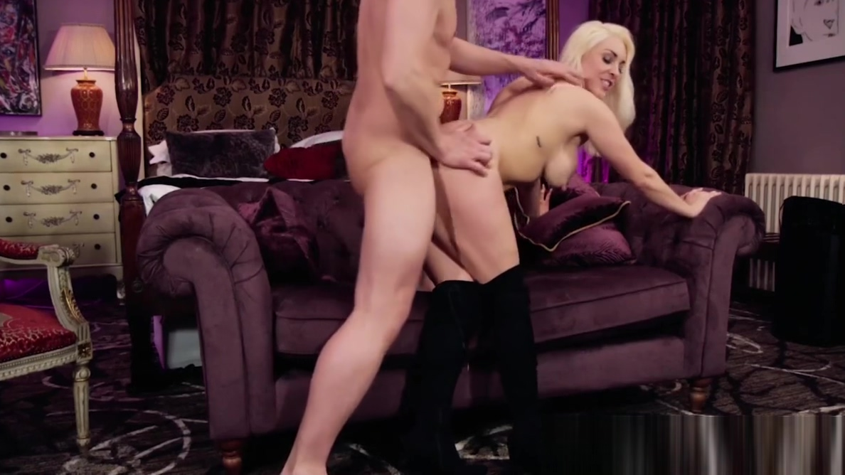Busty babe blasted with cock and cum by her sexy businessman