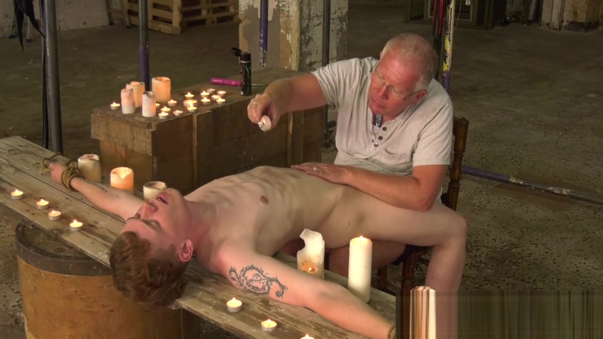 Sebastian Kane caresses sub youngster with candle wax Abigail fraser