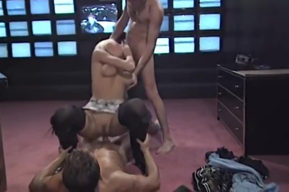 Blonde goddess and her stallions Three Lesbians Squirting From Anal Dildos