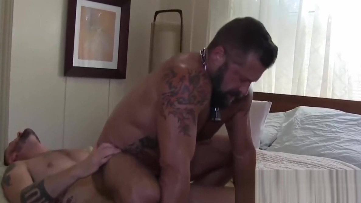 Inked experienced hunks are ready for wild barebacking Dona takes it deep in her anus