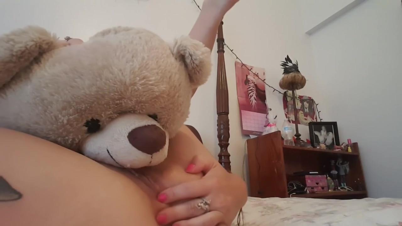 Girls with plushies teddy bear