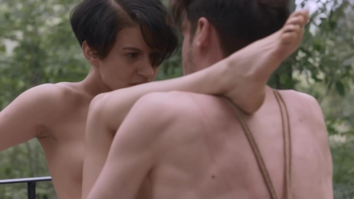 Shibari couple fucks in forest Nude mature milf