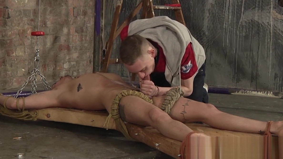 Restrained twink receives blowjob and handjob from master Sex with girl nice hot
