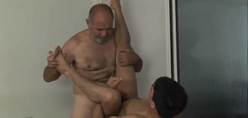 Grandpa fucks twink Hardcore gay big black dick