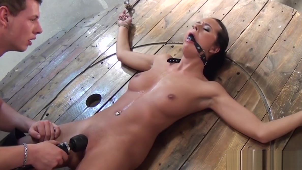 Ballgag sub toyed while bound by her maledom Kevin and whitney chemistry