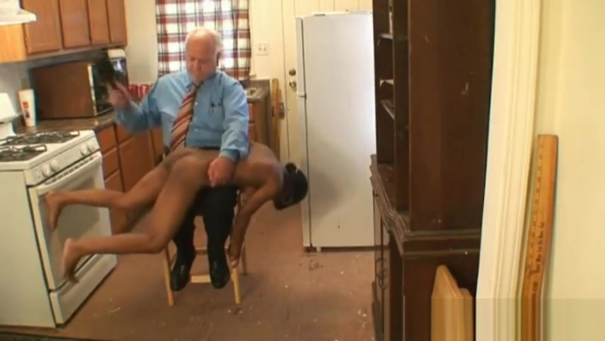Young black chick spanked by fat old white man Teen fucks first big cock