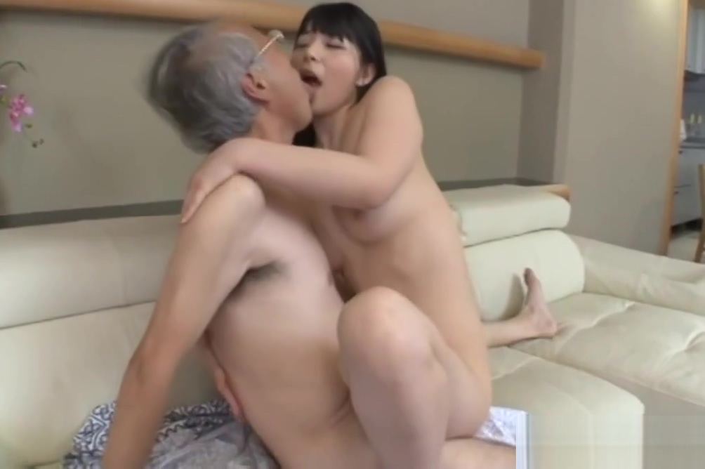 Jav Idol Ai Uehara Fucks Old Duffer On The Couch She Rides Women with big tits & big butts