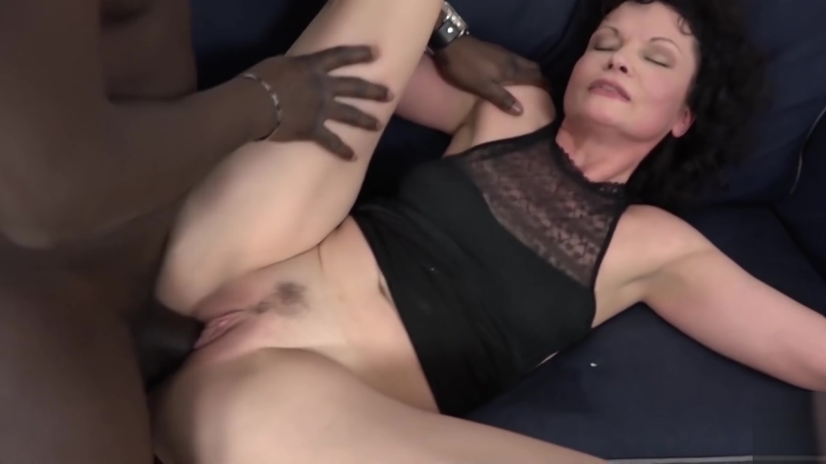 His big black cock makes the mature housewife have orgasms Serbian mature wife