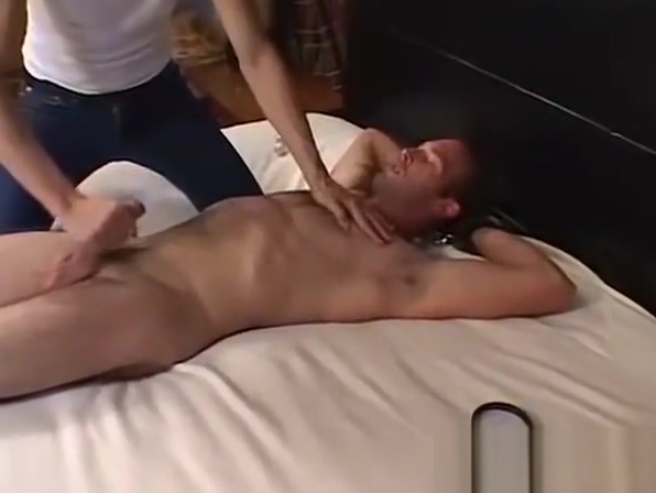 Handsome looking guy gets hardcore tickled and jacked off Sexy nude girl with big tits