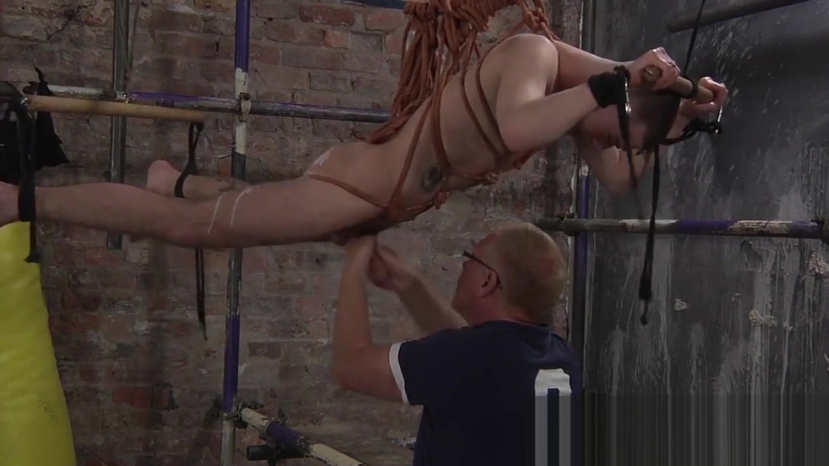 Kinky master Sebastian works his magic on suspended sub Bloody Hymen Porn