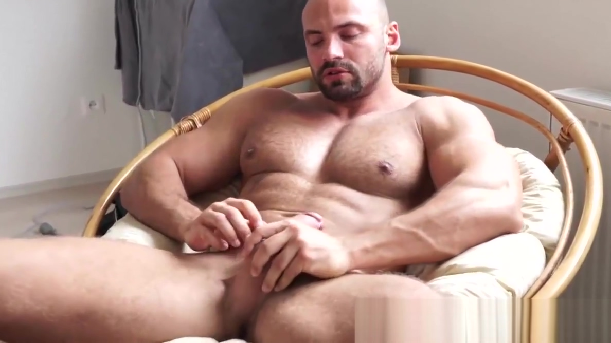 Muscular gay hunk playing with his big curved cock bizarre lesbian nurse sex pichunter 1