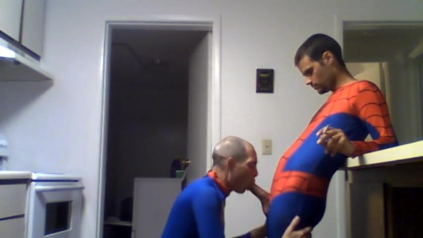 spiderman fucks superman bbw anal black dick dp