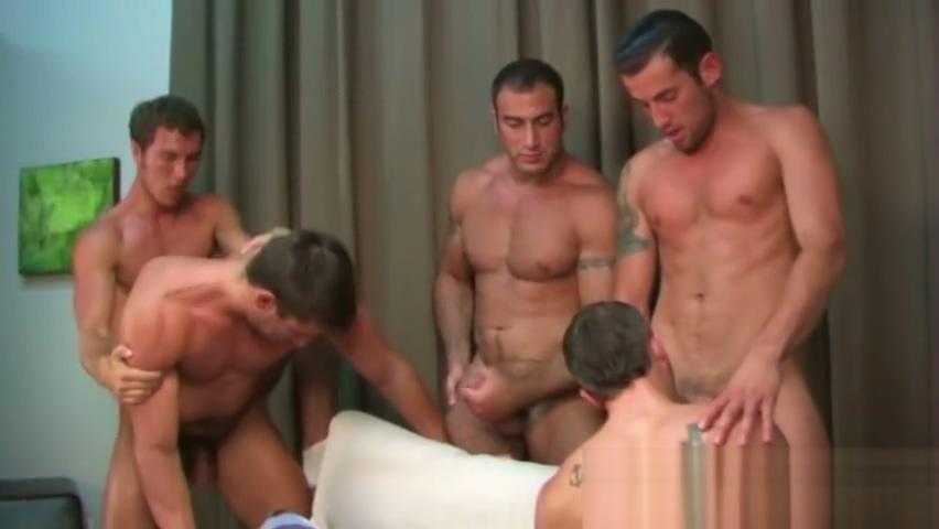 4 Men 1 Hole Ass booty bum butt thong white