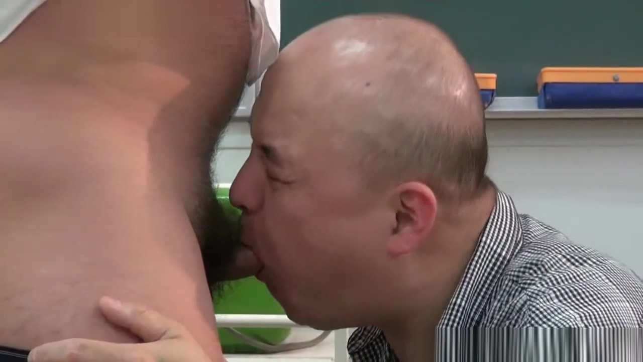 Japanese daddy jerk off each other Female eating out lesbian