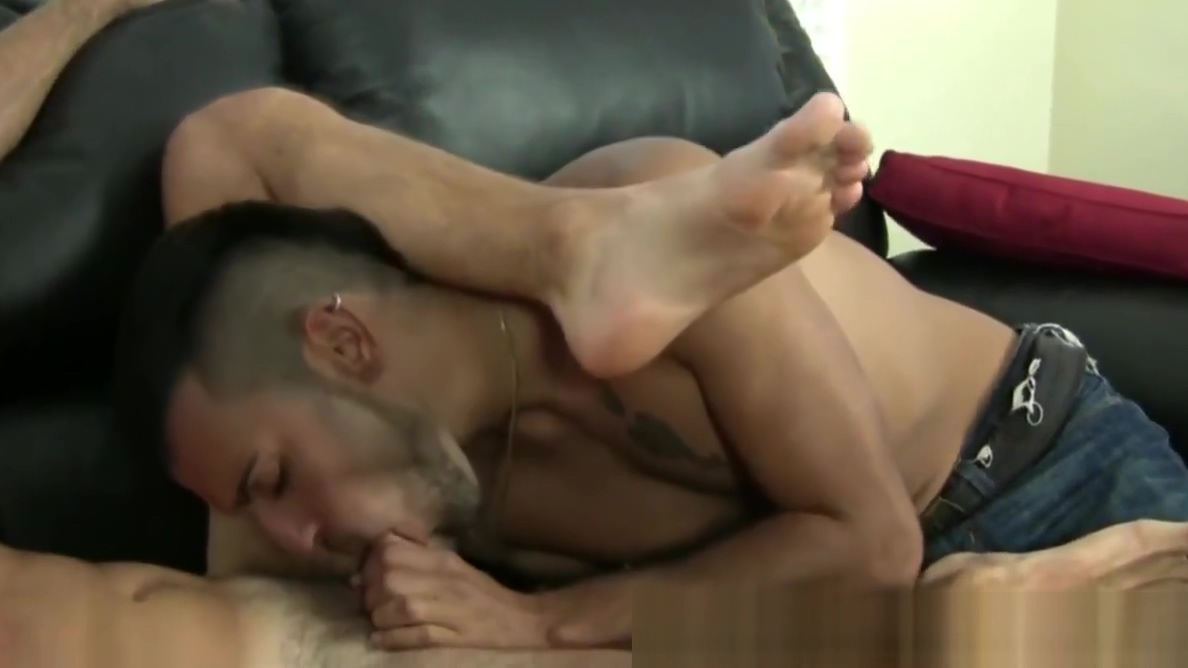 Foot fetish lover treats feet and cock with his tounge Slutload milf hairy pussy big tits