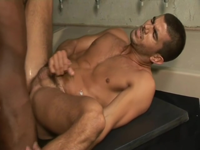 Black Security guy rides his white workmate in toilet Huge tittied Samantha 38G and friends deepthroat fan