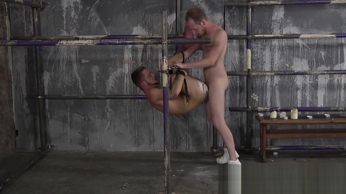 Bound homosexual gets his mouth ravaged by a big cock Stocking milf
