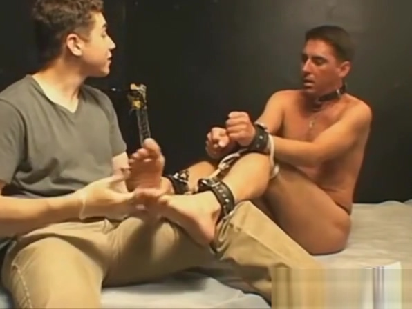 Young deviant ties up gay man for oiled up rough tickles White feels so right