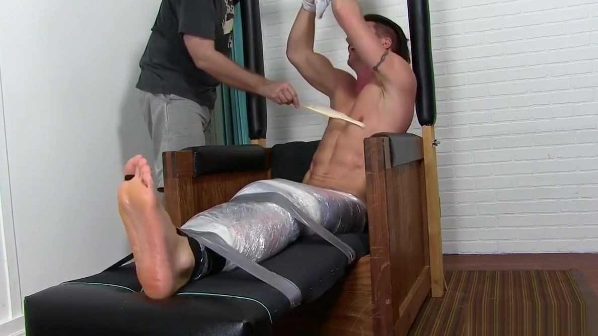 Handsome jock tied up and tickled until he starts to cry Rate our fuck pics