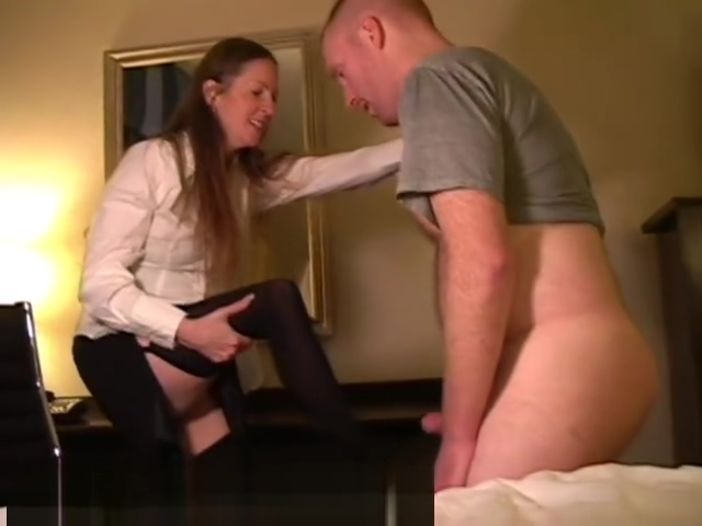 Gisella busts boss Girls slap hisballs and cock