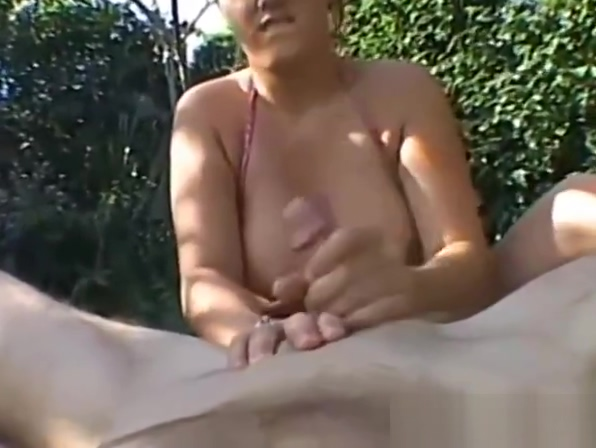Handjob from busty brunette on beach What to say in first online hookup message to a guy