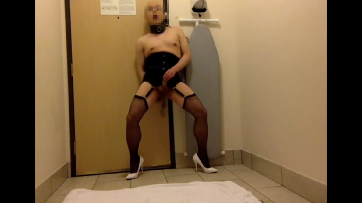 crossdressing sissy faggot Legs in nylon tumblr