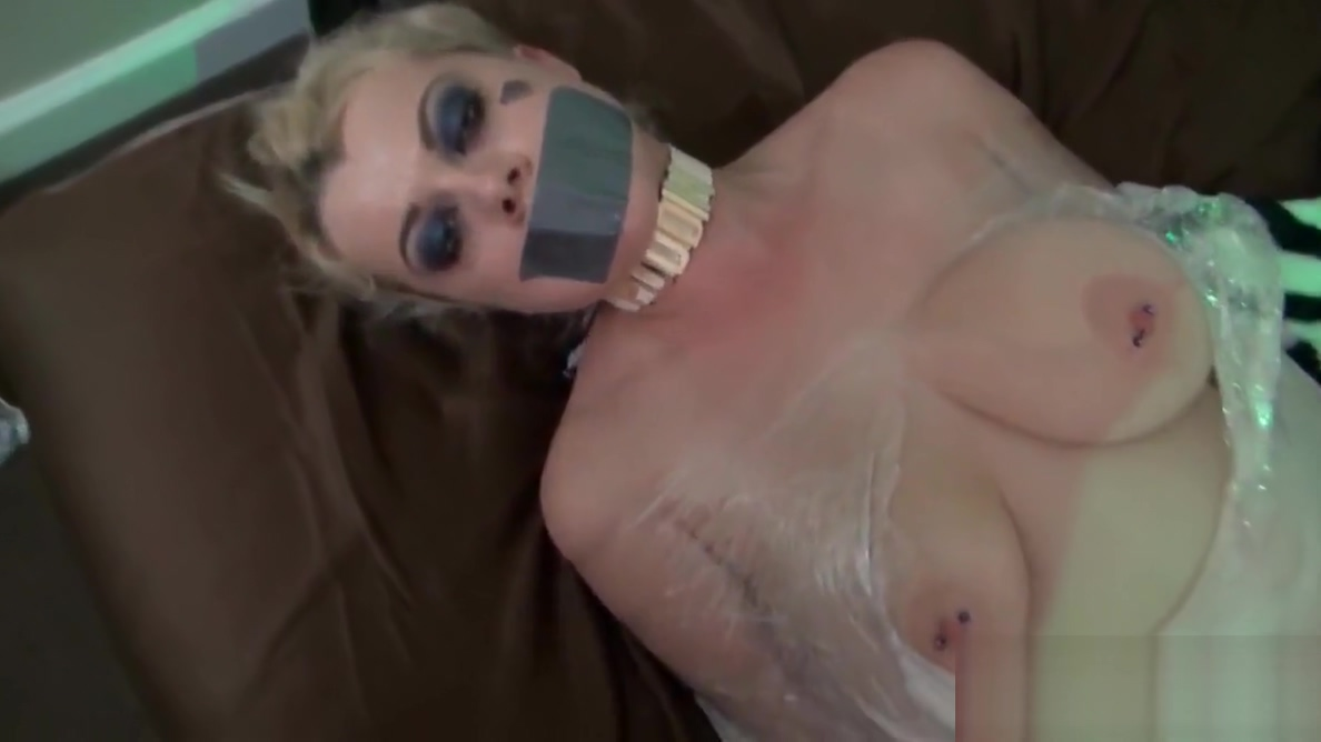 Nadia White is wrapped in plastic and groped