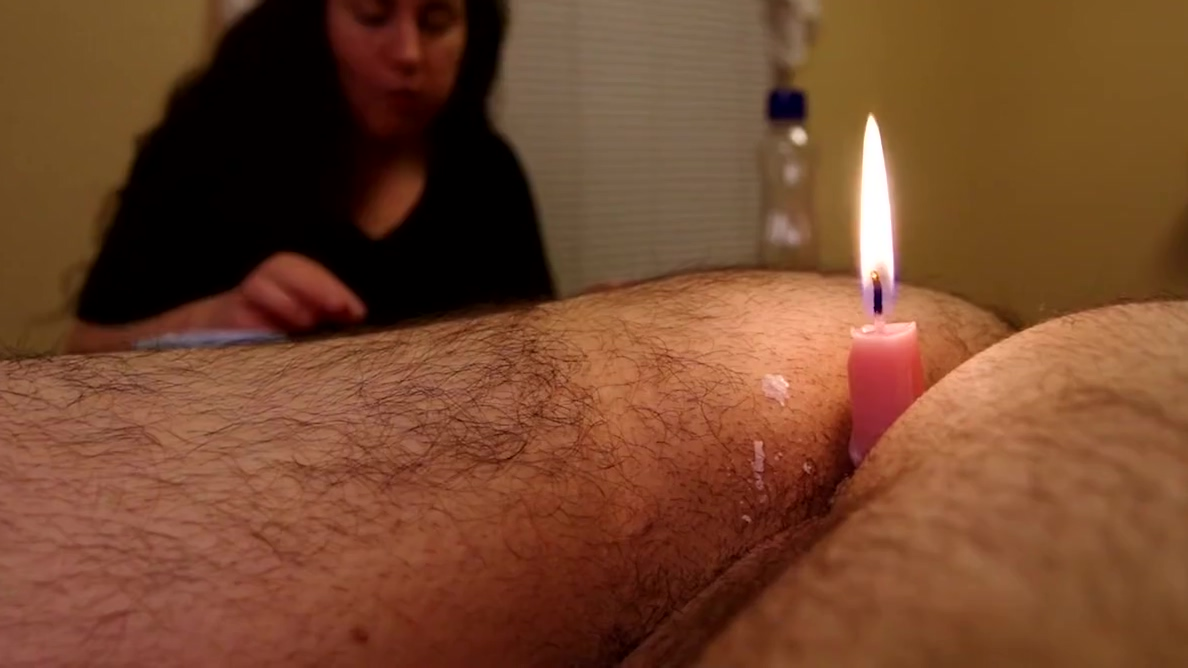 Romantic candlelight dinner Blonde teases and impresses