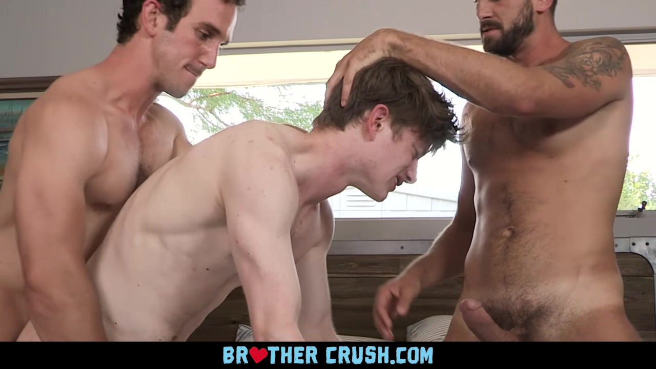 BrotherCrush - Skinny Twink Gets His Ass Pummeled By His Older Step Brother And His Friend Quality control bondage pillory