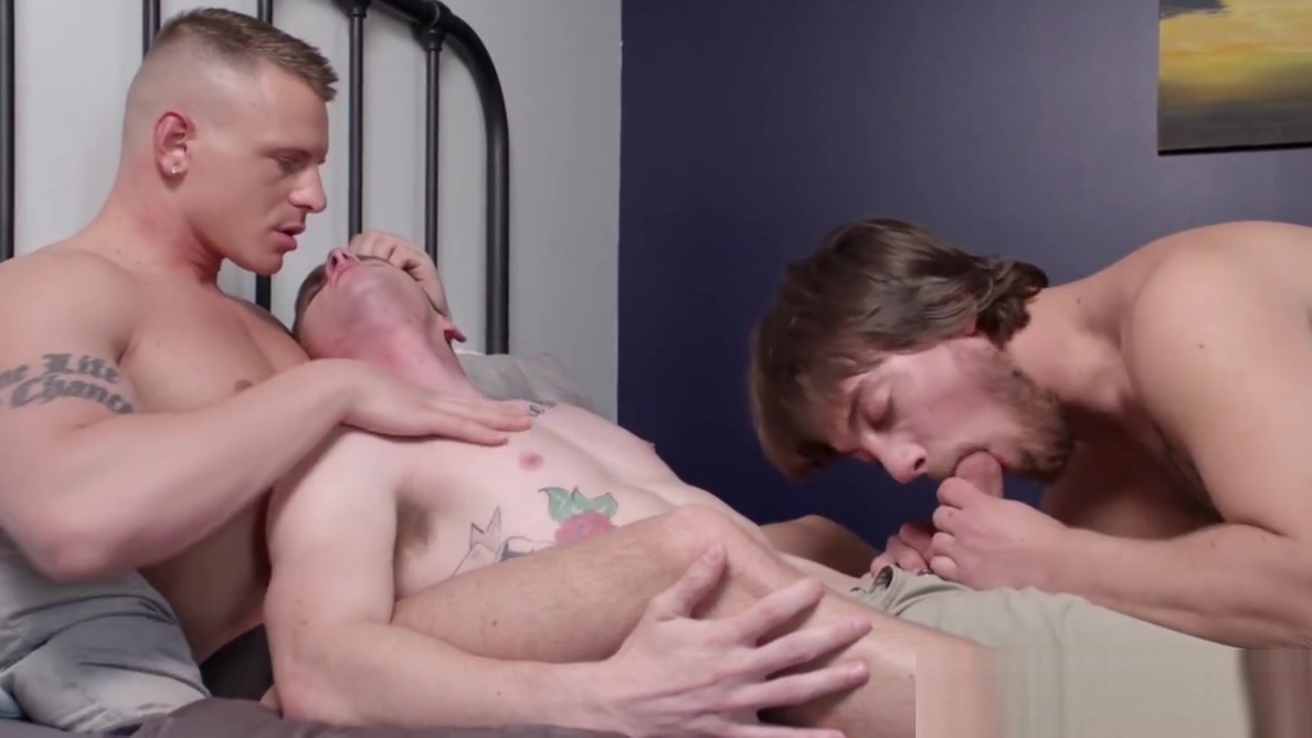 Three homosexual dudes have a passionate lovemaking session Boobs fucking videos